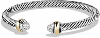 David Yurman Cable Classics Bracelet with Diamonds and Gold