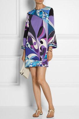 Emilio Pucci Printed stretch-silk mini dress