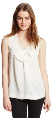 Juicy Couture Women's Jersey Sleeveless Bow Knit Tank
