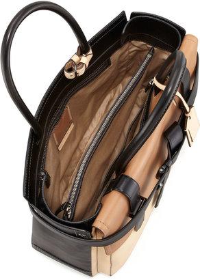Reed Krakoff Boxer 1 Calfskin Tote Bag, Natural/Black