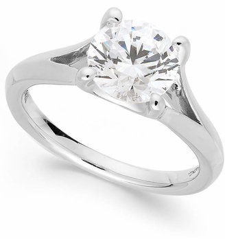 X3 Certified Diamond Split Shank Engagement Ring in 18 White Gold (2 ct. t.w.)
