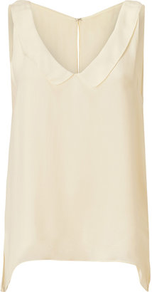 L'Agence LAgence Butter Silk Top with Round Collar