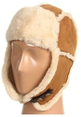 UGG Exposed Seam Trapper Hat (Chestnut 1) - Hats