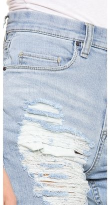 Blank Distressed Boyfriend Shorts
