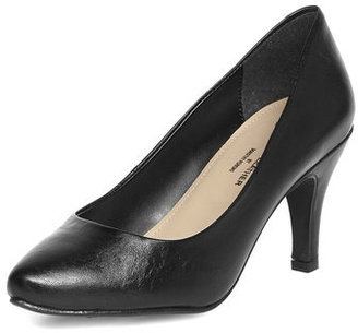 Dorothy Perkins Black leather pointed court shoes