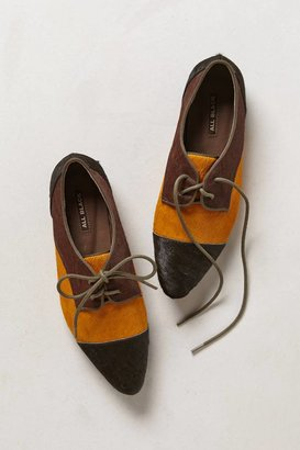 Anthropologie Pointed Pony Hair Oxfords