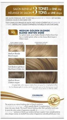 Clairol Nice 'n Easy Color Blend Foam Medium Golden Blonde 8G