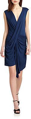 Akiko Twisted-Front Jersey Dress