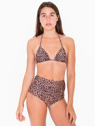 American Apparel Print Nylon Tricot Triangle Bikini Top