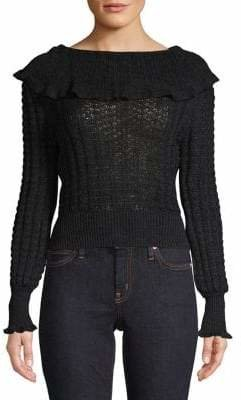Free People Relaxed-Fit Crazy In Love Ruffled Sweater