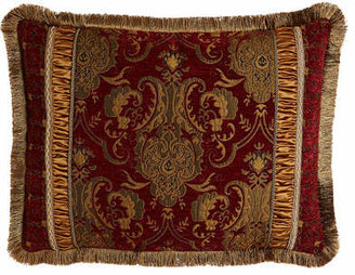 Austin Horn Collection King Scarlet Pieced Sham with Fringe