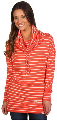 Skechers Striped Pullover (Neon Coral/Oatmeal) - Apparel