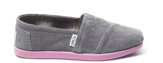 Toms Grey cord pop youth classics