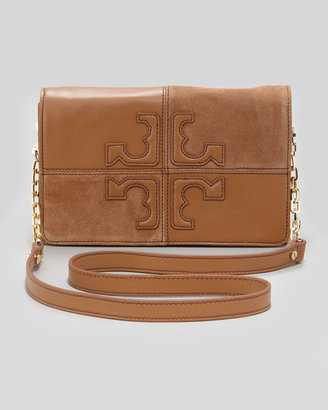 Tory Burch Natalie Suede & Leather Crossbody Bag, Brown