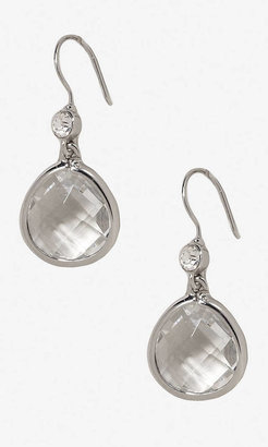 Express Faceted Stone Drop Earrings
