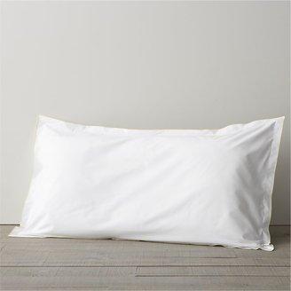 Crate & Barrel Belo Yellow King Flange Pillow Sham