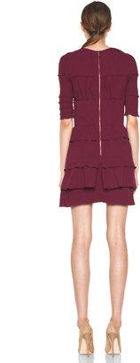 Nina Ricci Short Sleeve Dress in Raspberry