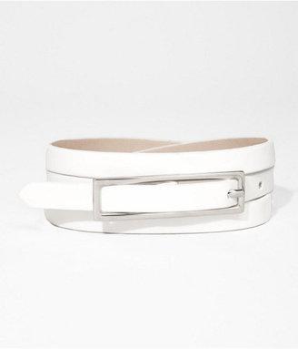 Express Painted Buckle Skinny Belt