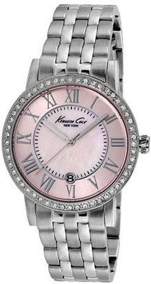 Kenneth Cole NEW YORK Ladies' Silver-Tone & Crystal Watch