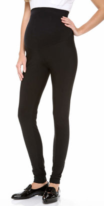 Plush Fleece Lined Matte Spandex Maternity Leggings $82 thestylecure.com