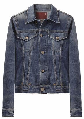 R 13 Classic Distressed Jean Jacket