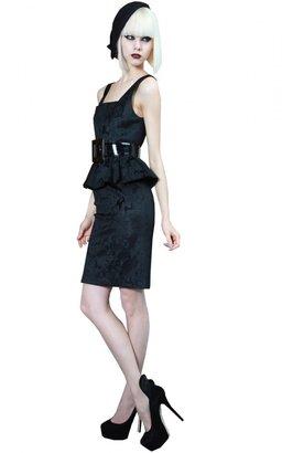 Alice + Olivia Yodi Square Neck Peplum Dress