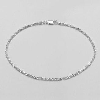 Margherita Silver-plated anklet
