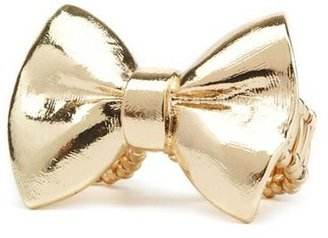 Charlotte Russe Golden Bow Stretch Ring