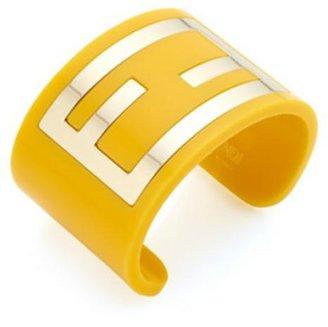 Fendi Project Plexi Logo Cuff, Lemon Yellow