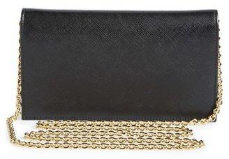 Salvatore Ferragamo Women's Salavatore 'Miss Vara' Leather Wallet On A Chain - Black