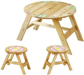Teamson Kids Fantasy Fields Magic Garden Table & Stool Set