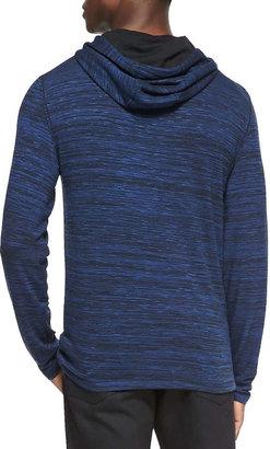 John Varvatos Space-Dyed Knit Pullover Hoodie, Blue