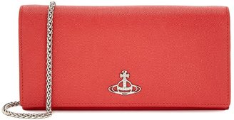Vivienne Westwood Windsor Red Leather Wallet-on-chain