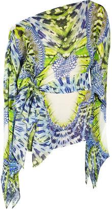 Just Cavalli Stretch-silk chiffon mini dress