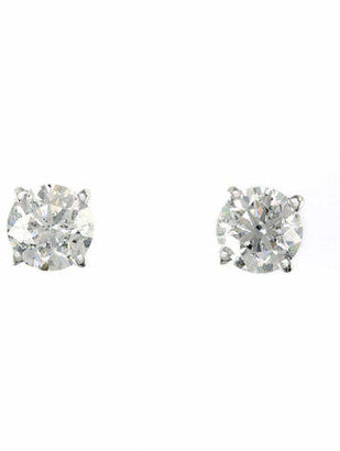 Effy 14K White Gold Stud Earrings with 1 TCW Diamonds