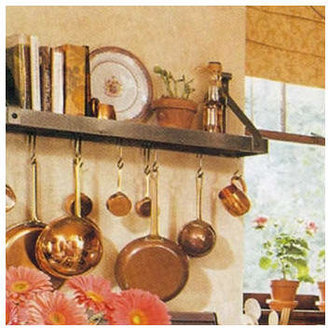 Enclume Bookshelf Pot Rack