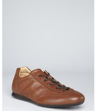Hogan brown leather 'Olympia' sneakers