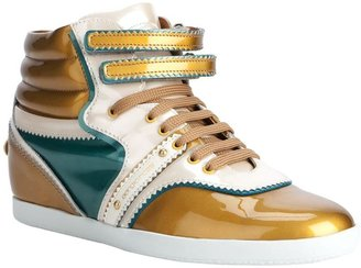 Sergio Rossi high top lace up trainer