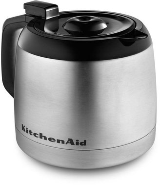 KitchenAid 12-Cup Programmable Coffee Maker with Thermal Carafe in Contour Silver