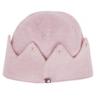 Oeuf Light Pink Crown Beanie Hat