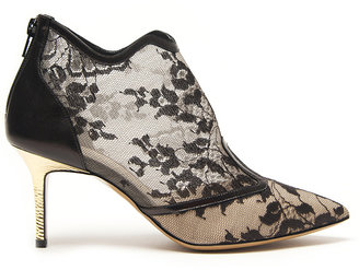 Nicholas Kirkwood Pointed Toe Lace Bootie