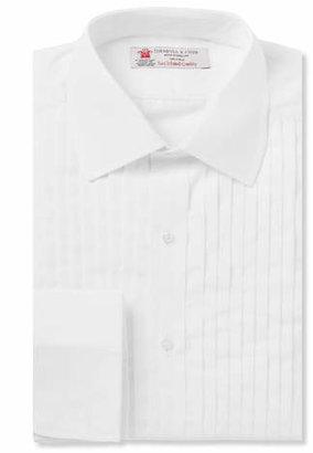 Turnbull & Asser White Sea Island Cotton Tuxedo Shirt