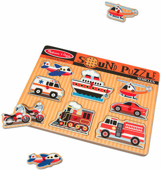 Melissa & Doug Kids Toy, Vehicles Sound Puzzle