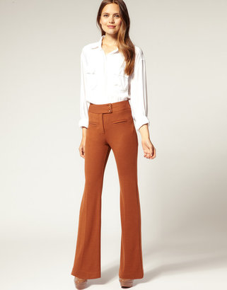 Asos Tailored Ponti High Waisted Slim Flare Pants