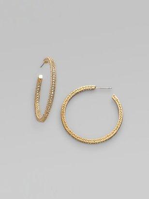 "Adriana Orsini Pave Hoop Earrings/11⁄2"""