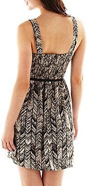 JCPenney Love Reigns Ruched Print Dress