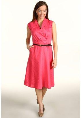 Jones New York S/L Belted Flap Pocket Dress (Primrose) - Apparel