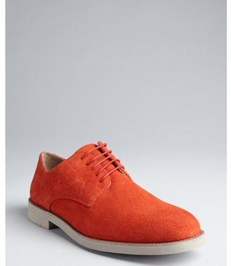 Florsheim by Duckie Brown cayenne distressed suede laceless oxfords
