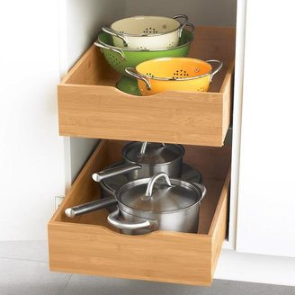 "Container Store 17"" Roll-Out Cabinet Drawer Bamboo"