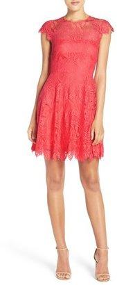 BB Dakota Rhianna Open Back Lace Fit & Flare Cocktail Dress